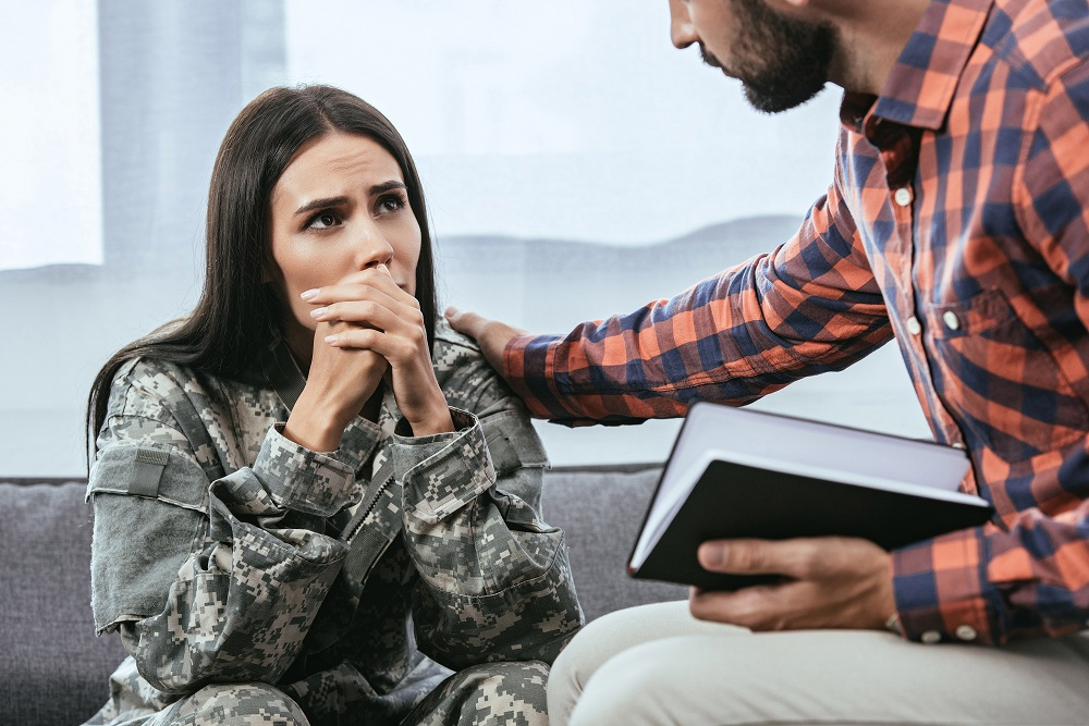 Veteran in counseling